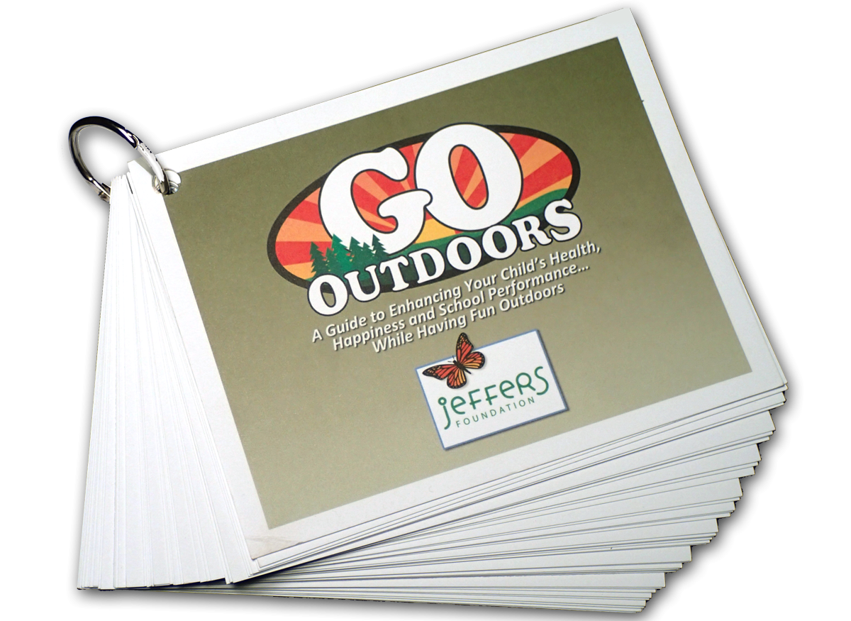 Pack of GO Outdoors cards on ring