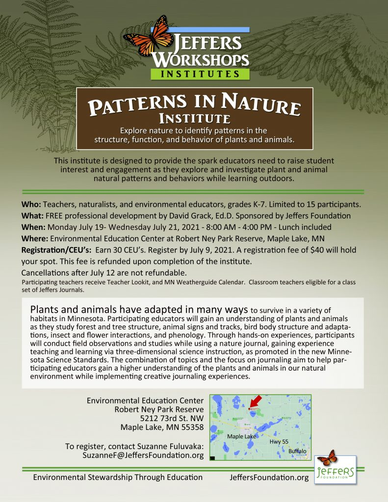 2021 Patterns in Nature flyer